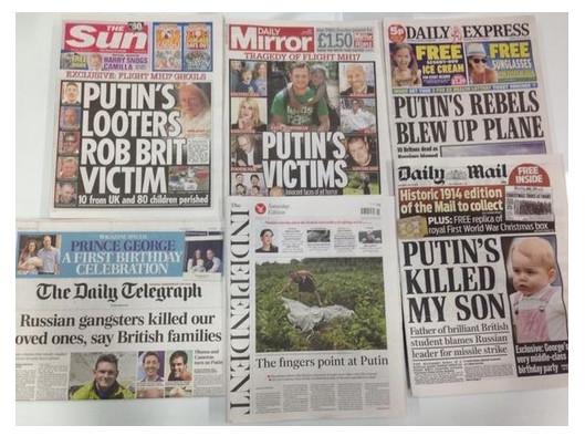 De haat-zaaiende tabloiits, allemaal afkomstig van enkele nieuwsmedia-corporaties....!