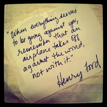 henry ford airplane against the wind