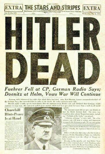 hitler dead newspaper