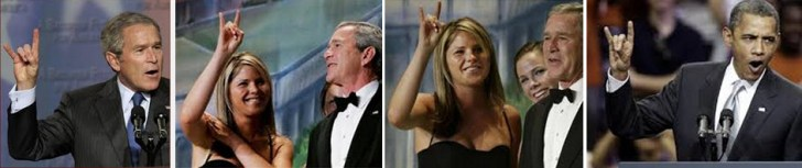 horn-sign-bush-daughter-and-obama