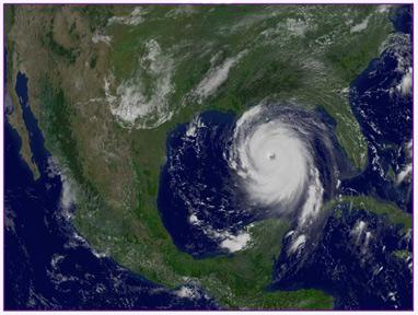 Katrina op ramkoers naar New Orleans