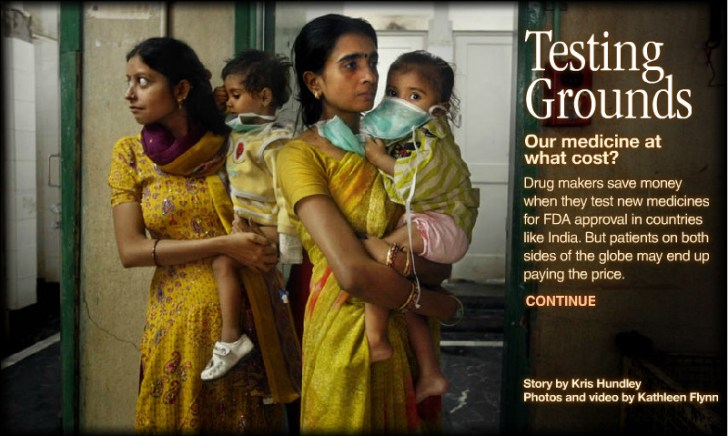india testing ground medicine