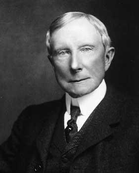 'Staatsieportret' van de rijkste man die ooit op Aarde leefde: John D. Rockefeller. Zijn manipulaties, afpersingsmethodes en megalomane machtsgeilheid waren de motor achter dit 'succes'..!