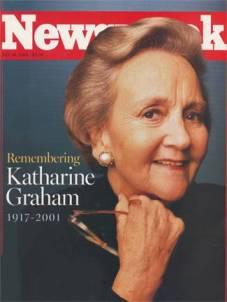 Gerespecteerd journalist en hoofdredacteur Katharina Graham bracht het netjes onder woorden: 'Zorg voor een vrije pers'!