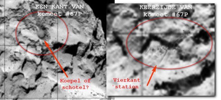 komeet 67P station en koepel