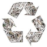 Logo voor kringlooppapier