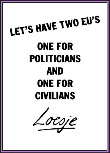loesje EU civilians politicians