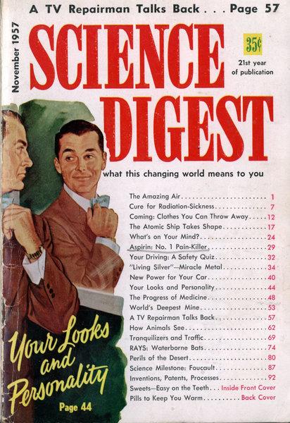 De bewuste cover van het tijdschrift 'Science Digest', waar het artikel over zilver in staat.