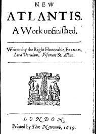 Het boek uit 1627 van Francis Bacon