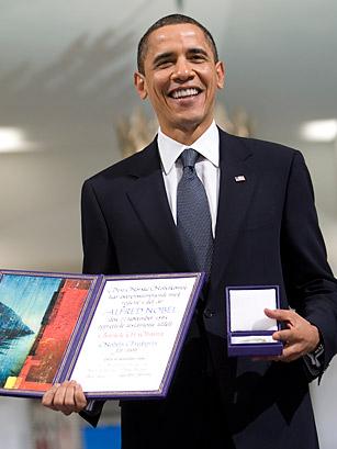 Obama geëerd om zijn inzet om vrede in de wereld te bewerkstelligen.. Of hoe een Nobelcommité zichzelf ongeloofwaardig maakt..
