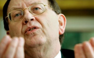 Oud-voorzitter van de directie van DNB, De Nederlandse Bank, Nout Wellink.