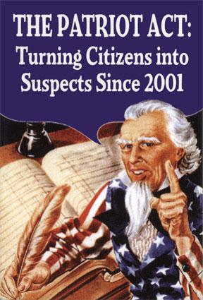 De aanslagen van 9/11 waren nog maar een paar weken achter de rug en een kant en klare 'Patriot Act' werd gepresenteerd.. Uit de kas gehaald..?