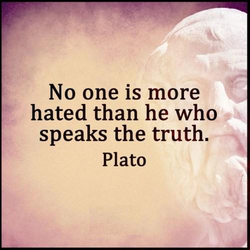 plato truth hated