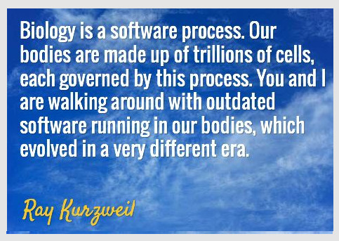 ray kurzweil software biology