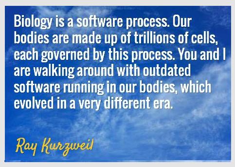 ray kurzweil software biology