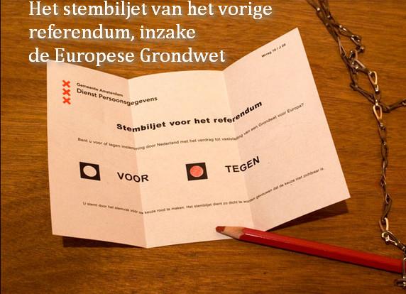 referendum stembiljet EU grondwet