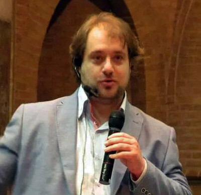 Robbert van den Broeke tijdens een van zijn presentaties.