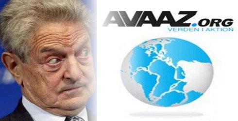 George Soros is één van de financiers achter de dubieuze 'solidariteits-site' AVAAZ. Een organisatie die misleidt en misbruikt. Zoals bijvoorbeeld de steun aan de 'No-fly-afspraak' van de VN in Libië, waarbij ELK Libisch militair vliegtuig BOVEN EIGEN LAND neergeschoten zou mogen worden door de 'Westerse democratieën' onder leiding van de NAVO, de Europese 'verdedigingsorganisatie'. (klik voor deze AVAAZ-actie)