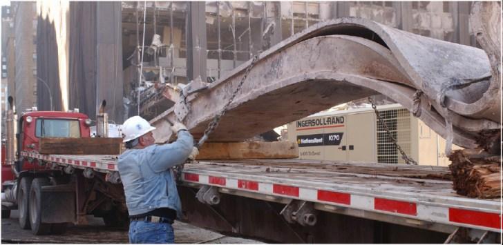 steel beams 911 truck