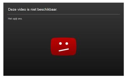 video niet beschikbaar