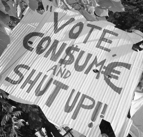 vote consume and shut up