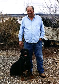 William Cooper vlak voor zijn dood, gefotografeerd op zijn ranch.