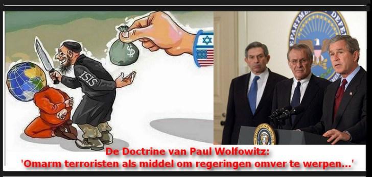Paul Wolfowitz als een van de neo-conservatieven achter de regering Bush, die uiteindelijk verantwoordelijk zou zijn voor een lijst van oorlogsmisdaden en meer dan 1,5 miljoen Irakese doden alleen al..!