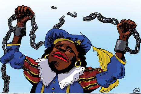 zwarte-piet slaaf