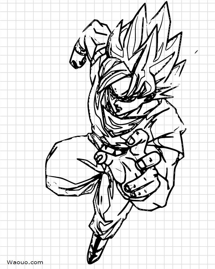 Dragon Ball Z Sangoku A Dessiner Et A Colorier
