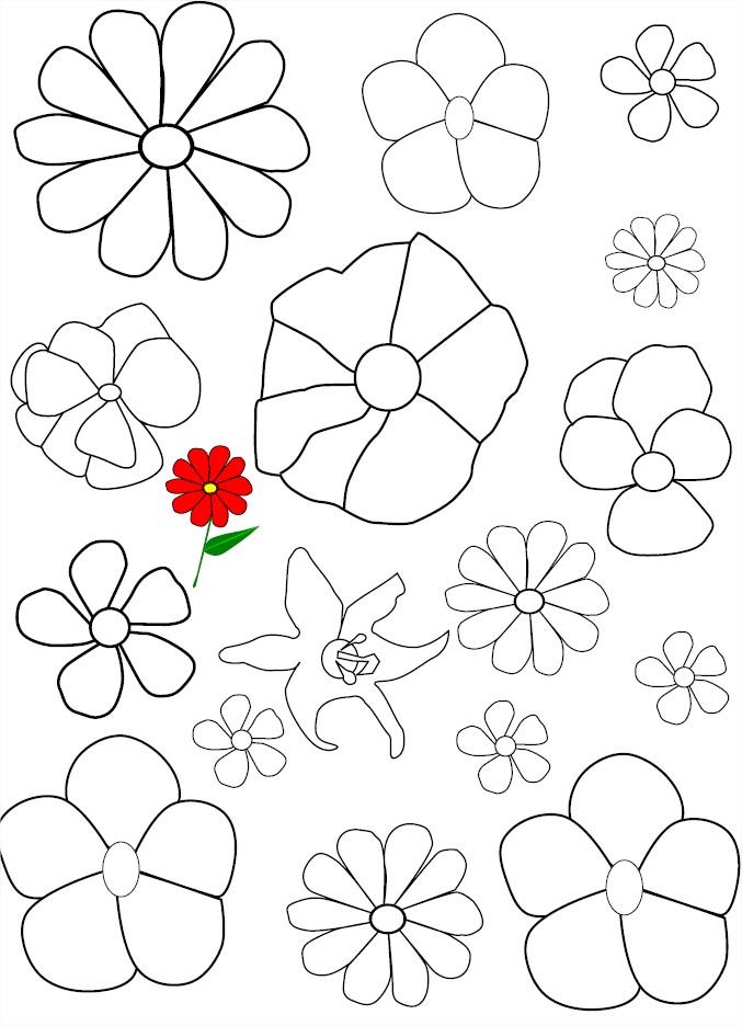Coloriage De Fleurs Gratuit Imprimer Et Colorier