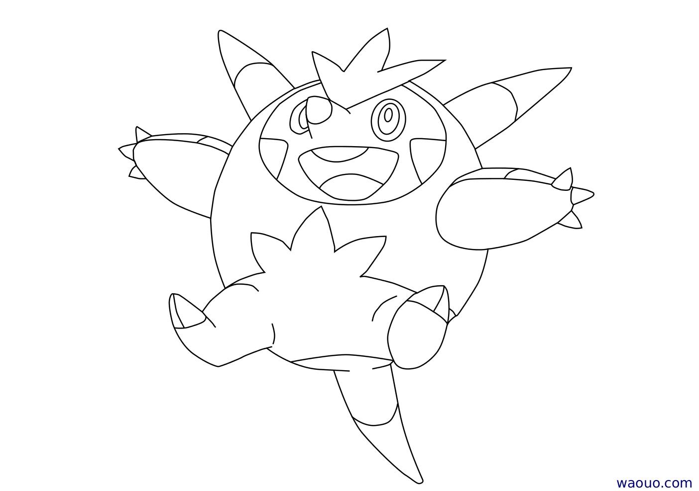 Coloriage Boguerisse Pokemon X Et Y A Imprimer