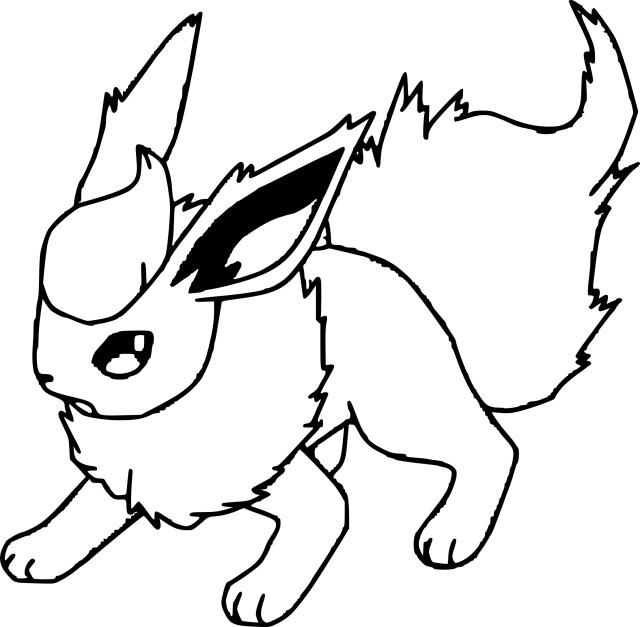 Pyroli : Coloriage Pyroli Pokemon à imprimer et colorier