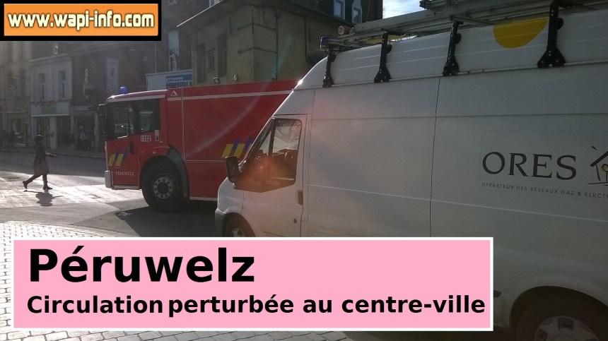 Les pompiers interviennent à la rue Albert Ier à Péruwelz