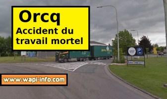 Orcq : accident du travail mortel - un ouvrier écrasé par sa benne