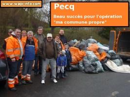 """Pecq : beau succès pour l'opération """"ma commune propre"""""""