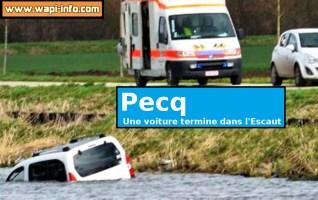 Pecq : une voiture plonge dans l'Escaut