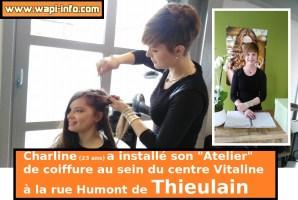 """Thieulain : Charline réalise son rêve en ouvrant son """"Atelier"""" de coiffure à la rue Humont"""