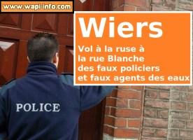 Wiers : faux agents des eaux suivis de faux policiers pour un vol à la ruse