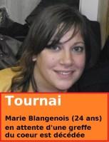 Antoing - Tournai : Marie Blangenois (24 ans) en attente d'une greffe du coeur est décédée