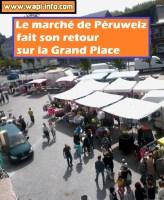 Péruwelz : le marché a retrouvé la Grand Place