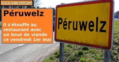 Péruwelz: décèsdans un restaurant - il s'étouffe avec un bout de viande