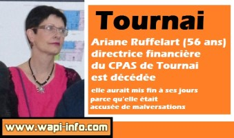 Tournai : Ariane Ruffelart (56 ans) directrice financière du CPAS est décédée