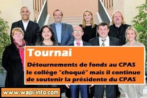 """Tournai : """"choqué"""" le Collège réaffirme son soutien à la Présidente du CPAS et aux conseillers de l'Action sociale"""