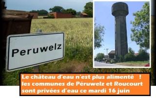 Péruwelz : le château d'eau n'est plus alimenté - les communes de Péruwelz et Roucourt sont privées d'eau