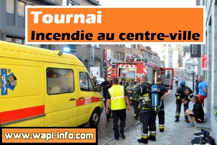 tournai incendie centre ville