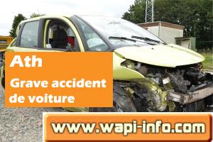 Ath : grave accident de la circulation