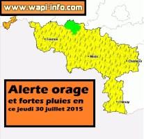 Tournaisis : alerte orage et fortes pluies - la région de Mouscron touchée en premier