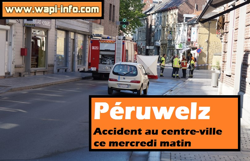 accident centre ville peruwelz
