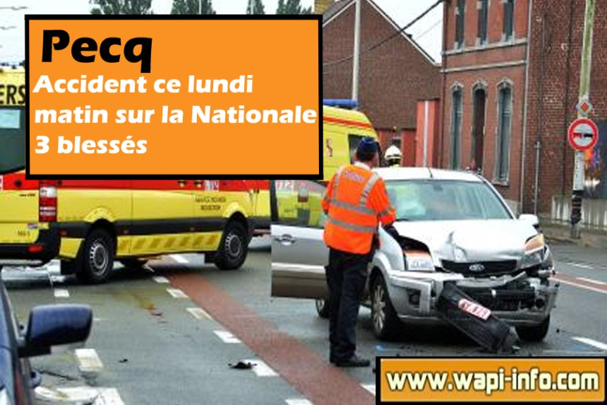 accident nationale pecq 20 juillet