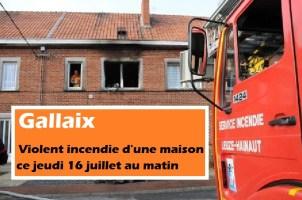 Gallaix : violent incendie d'une maison ce jeudi matin